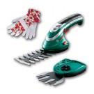 Комплект акумулаторна ножица за храсти и акумулаторна ножица за трева BOSCH ISIO + Градински ръкавици
