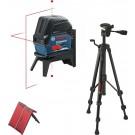 Комбиниран лазерен нивелир BOSCH GCL 2-15 Professional + Строителен статив BOSCH BT 150 Professional