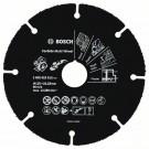 Карбиден мултидиск BOSCH Multi Wheel за рязане на дърво и пластмаса с ъглошлайф, Ф125